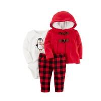 Carter's 女童保暖三件套(外套+长裤+长袖哈衣)