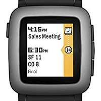 Pebble Time Smartwatch Black 智能手表