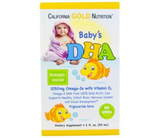 California Gold Nutrition 婴幼儿DHA补充剂 59ml