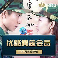 youku 优酷 黄金vip会员 1个月