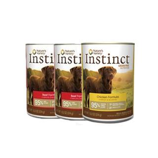 Instinct 百利 无谷鸡肉+牛肉+风味牛肉 狗罐头 374g*9罐