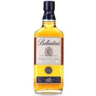 百龄坛(Ballantine's)洋酒 金玺12年苏格兰威士忌 700ml