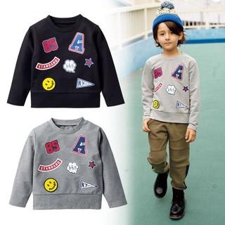 秋季直邮季 : Skipland 斯克莱 男童徽章印花卫衣