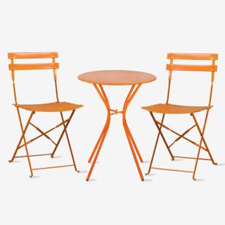 好事达 悦彩 圆桌折椅套装 一桌两椅