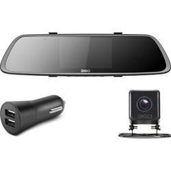 360行车记录仪后视镜版 M302 高清夜视 前后双录 倒车影像 停车监控 wifi连接 APP管理 手势识别 黑色