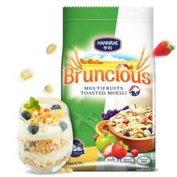 澳大利亚进口 亨利(HANNRAE)6种水果干 松脆 早餐即食谷物 618g 早餐营养麦片 *8件