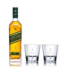 JOHNNIE WALKER 尊尼获加 绿牌 15年调配型苏格兰威士忌 750ml(Tristan Eaton限量版礼盒)