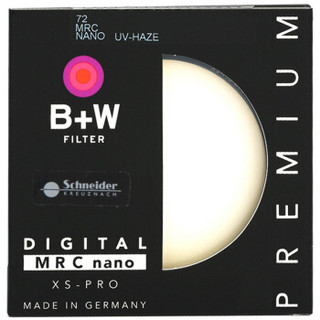 B+W uv镜 滤镜 72mm UV镜 XS-PRO 超薄多层纳米镀膜UV镜 保护镜