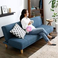 奥古拉家具 沙发床 折叠沙发单人小户型多功能布艺沙发床组合两用(布艺-蓝色 180cm)