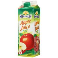 Sunfresh 苹果汁饮料 1L *5件