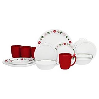 中亚Prime会员 : Corelle 康宁餐具 Livingware Dinnerware 20-Piece Set 20件套