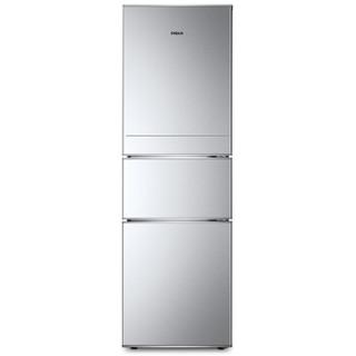 帝度(DIQUA)BCD-220TY 220升 三门冰箱 中门软冷冻 节能保鲜(亮银横纹)