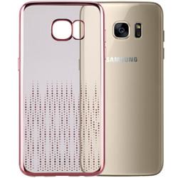 摩米士(MOMAX)三星 Galaxy S7 edge流金保护套 TPU电镀金属  适用于三星S7 edge  流星雨-玫瑰金