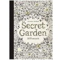 《Secret Garden: 20 Postcards》秘密花园:20张明信片 英文原版涂色书