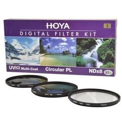 保谷(HOYA)uv镜 52mm 滤镜 偏振镜  NDX8减光镜  套装