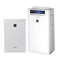 夏普(SHARP) 空气净化器 KC-WG50-W(PM2.5数字显示款)除雾霾除甲醛杀菌加湿 APP智能远程控制(备案型号:KJ320F-WGGX/W)+夏普(SHARP)空气净化器 FU-GB10-W 除雾霾PM2.5除甲醛净离子群杀菌
