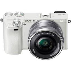 索尼(SONY)ILCE-6000L APS-C微单单镜套机 白色(2430万有效像素 16-50mm镜头 F3.5-5.6 a6000L/α6000)