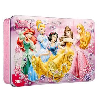 迪士尼Disney 儿童拼图 200片铁盒拼图木质公主大集合(古部益智拼图木制玩具)11DF2795 *9件