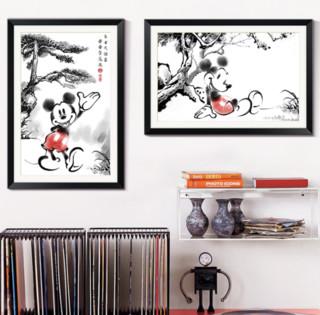 waLLwa 墙蛙 水墨米奇系列装饰画