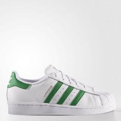 adidas 阿迪达斯 Superstar 大童款 金标绿尾贝壳头板鞋 *2双