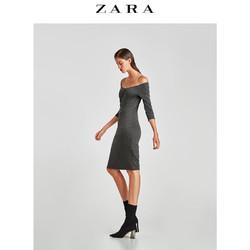 ZARA  TRF 女装 露肩罗马针织连衣裙 05644287922
