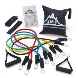 Black Mountain Products 阻力带(含门锚)、脚踝带、训练图以及收纳袋