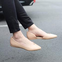 NINE WEST 玖熙 2017年新款 Sakario浅口平底亮皮休闲鞋