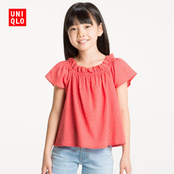 童装/女童 花式衬衫(短袖) 187988 优衣库UNIQLO