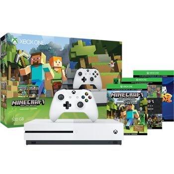 微软(Microsoft) Xbox One S 500GB家庭娱乐游戏机 《我的世界》同捆限定套装
