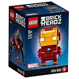 LEGO 乐高 拼插类玩具 Brickheadz 大头仔系列 Iron Man钢铁侠 41590 10-99岁 积木玩具 *2件 +凑单品