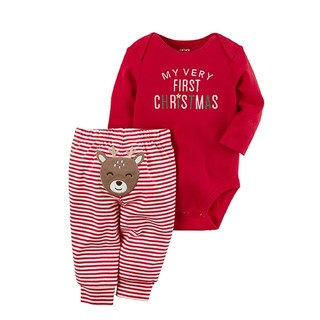 双11预售 : Carter's 119G242 宝宝全棉连体衣2件套