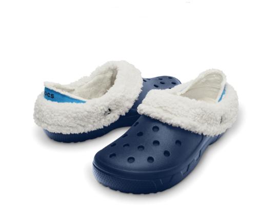 crocs 卡骆驰 12878 猛犸便捷暖绒棉拖鞋