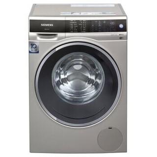 西门子 (SIEMENS) XQG100-WM14U669HW  10公斤  变频滚筒洗衣机  洗衣液自动添加  家居互联  (缎光银)