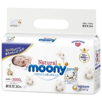 unicharm 尤妮佳 Moony 皇家自然棉系列 新生儿纸尿裤 30枚