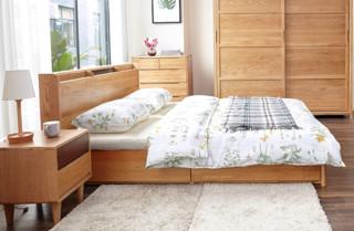 维莎 w0616 日式实木高箱体储物床
