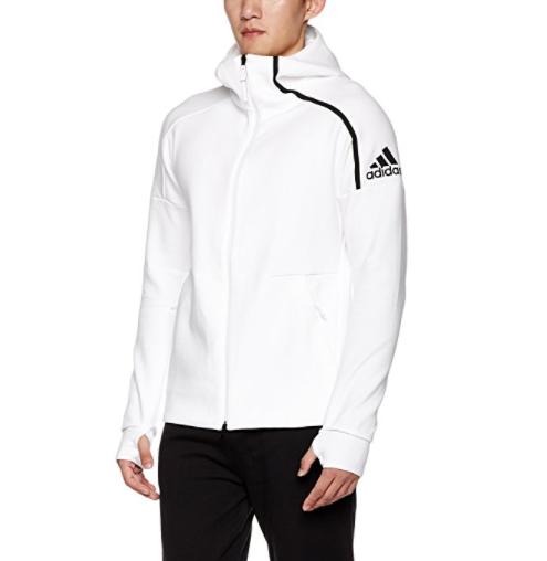 adidas 阿迪达斯 男士运动夹克 CD6277 白色 XL