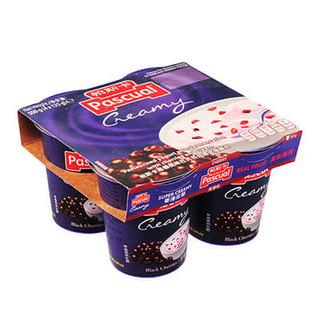 PASCUAL 帕斯卡 巴氏灭菌果粒酸奶 黑樱桃全脂 125g*4盒