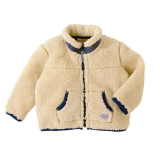 MIKI HOUSE 宝宝毛绒外套 灰色 130cm款