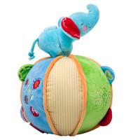 费雪Fisher-Price 毛绒玩具 小象手抓球 锻炼宝宝手抓 婴儿色彩辨别 布娃娃公仔 FPL006 *2件