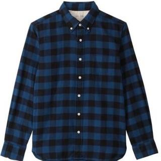 双11预告 :  MUJI 无印良品 16AC779 男士法兰绒衬衫