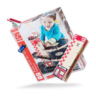 德国Hape玩具停车场E3002 过家家玩具3岁以上宝宝启蒙儿童模型男孩喜欢 木制送礼