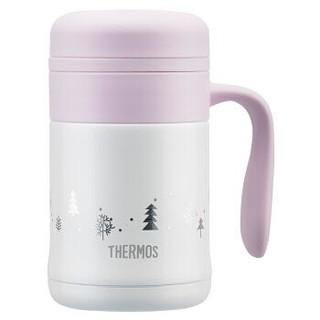 膳魔师(THERMOS)高真空不锈钢保温杯咖啡杯手柄办公室茶杯带盖马克杯 TCMG-373 CAC(WF)+凑单品