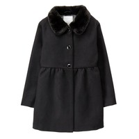 GYMBOREE 金宝贝 Faux-Fur Collar Jacket 女童款秋冬外套