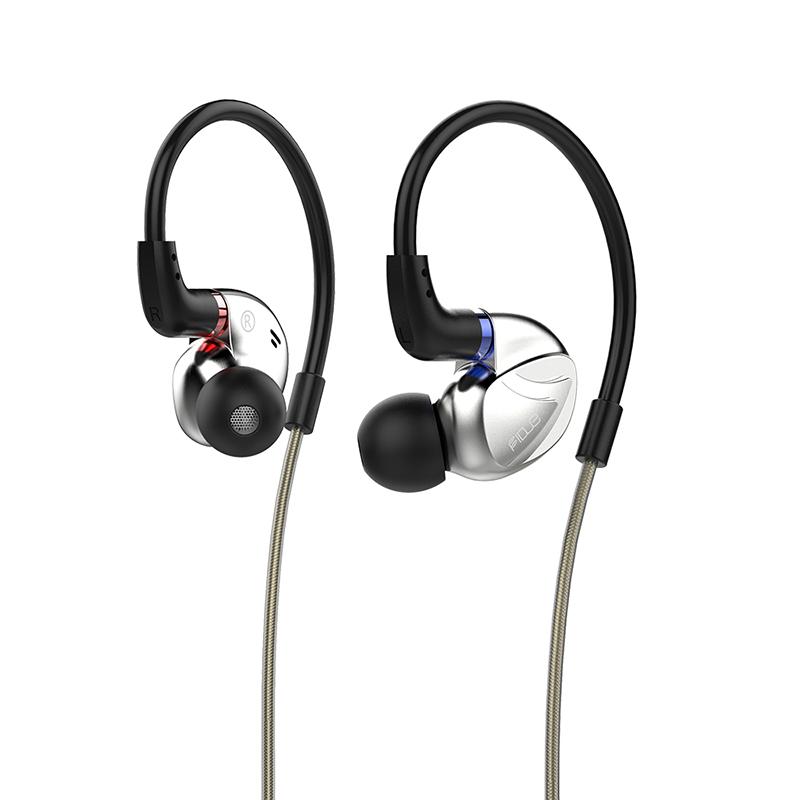 FIDUE 飞朵 VIRGO 入耳式圈铁混合有线耳机 皓白银 3.5mm