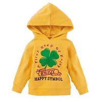 Skipland 斯克莱 儿童针织连帽卫衣 黄色 110