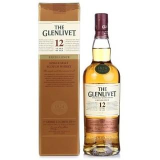 Glenlivet 格兰威特 12年陈酿 单一麦芽苏格兰威士忌 700ml