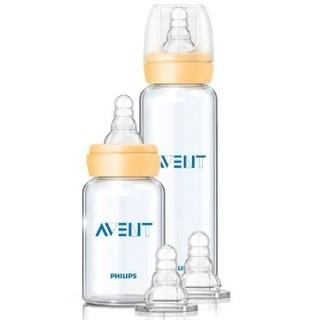 AVENT 新安怡 SCD803/01 标准口径玻璃奶瓶新生儿套装 *3件