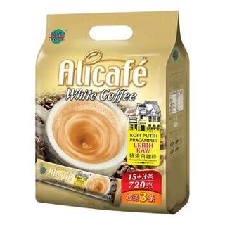 马来西亚进口 啡特力(Alicafe)3合1特浓白咖啡720g *24件+凑单品