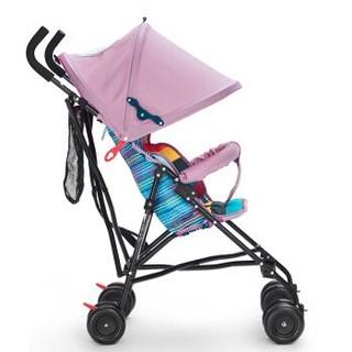 晨辉(CHBABY)轻便婴儿推车 折叠避震宝宝童车 伞车 A301E彩网 浅粉色 6个月-3岁+凑单品
