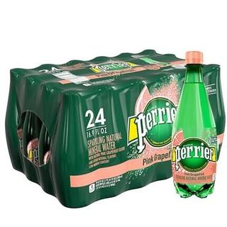 perrier 巴黎水 含气天然矿泉水 西柚味 500ML*24瓶